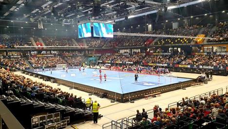 Trondheim Spektrum håndballkamp til EM i flerbrukshall