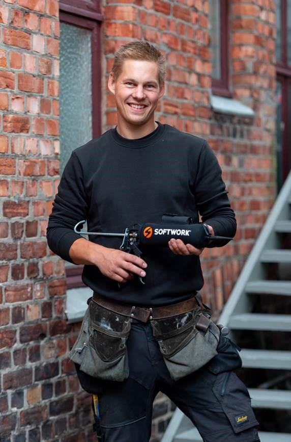 Marius Jacobsen med Softworks fugevarmer