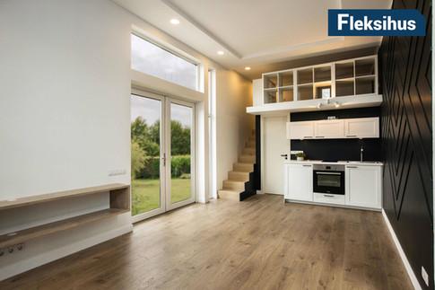 Minihus 40m2 kjøkken og stue