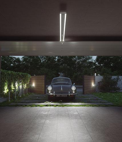 Halo portåpner med innebygd LED-belysning til garasjeport