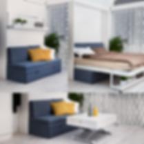 Sofa kombinet med skapseng gir rommet flere funksjoner