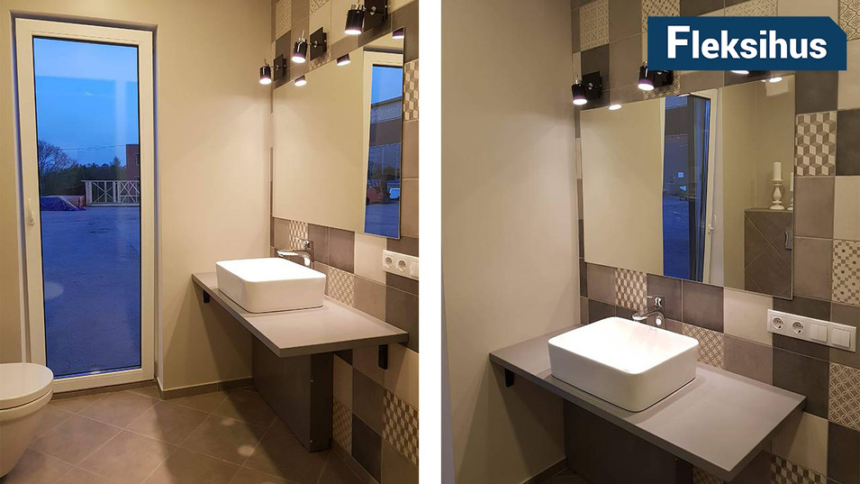 Moderne bad minihus
