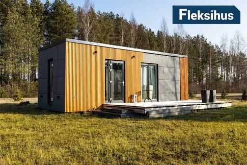 Moderne minihus på 25 kvadrat