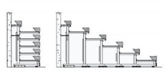 Tegning veggmontert teleskop tribune