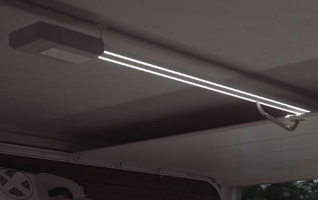 Halo garasjeportåpner med lysarmatur