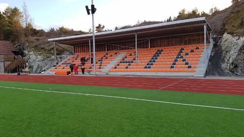 Tribune til Austevoll idrettsklubb