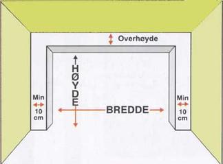 Guide for å mål garasje