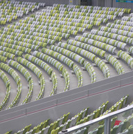 Flerfargede tribunestoler til