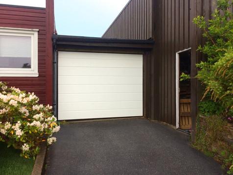 H-line hvit garasjeport