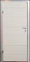 Siedør til garasje med slett panel