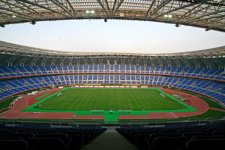 Avant OL i beijing tribuner og arena