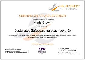 Marie Brown-Designated Safeguarding Lead