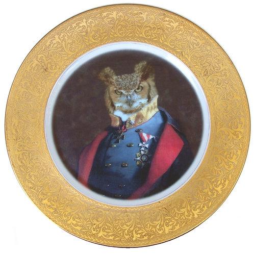 """Captain Strigiformes Portrait Plate 10.75"""""""