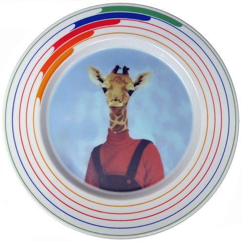 """Andrea Giraffe Portrait Plate 10.75"""""""
