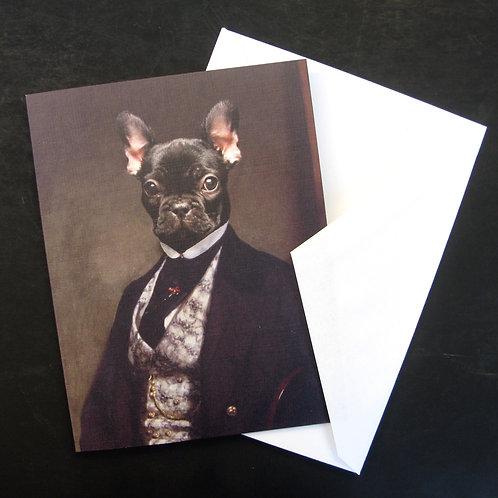 Portrait of Bouledogue Français - Note Cards (3)
