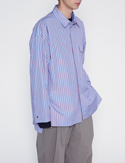 Purple Stripe Thomas Mason Lab Shirt (Pre-order)