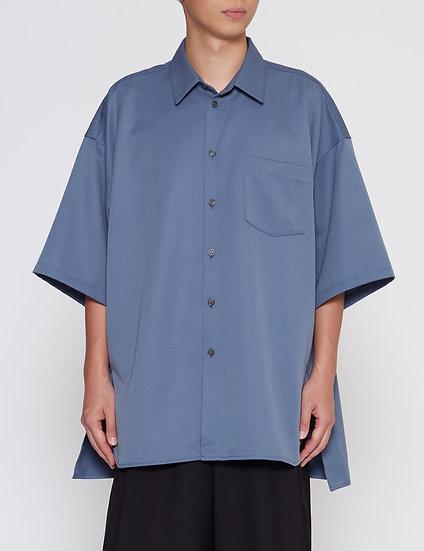 Steel Blue Oversized Back Yoke Shirt