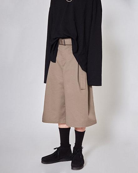 Grey Heavy Twill Futuro Shorts