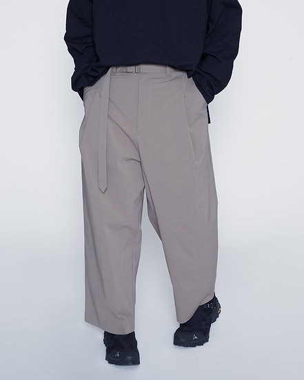 Khaki Dry Weather Nylon Belted One Tuck Pants