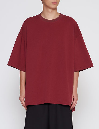Burgundy Heavy Weight Slit Big Tee