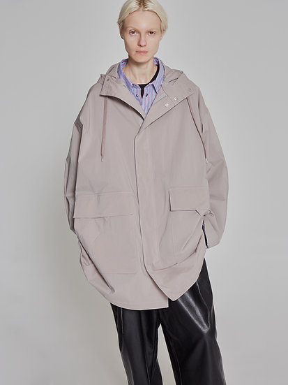 Grey Dry Weather Nylon M-51 Parka