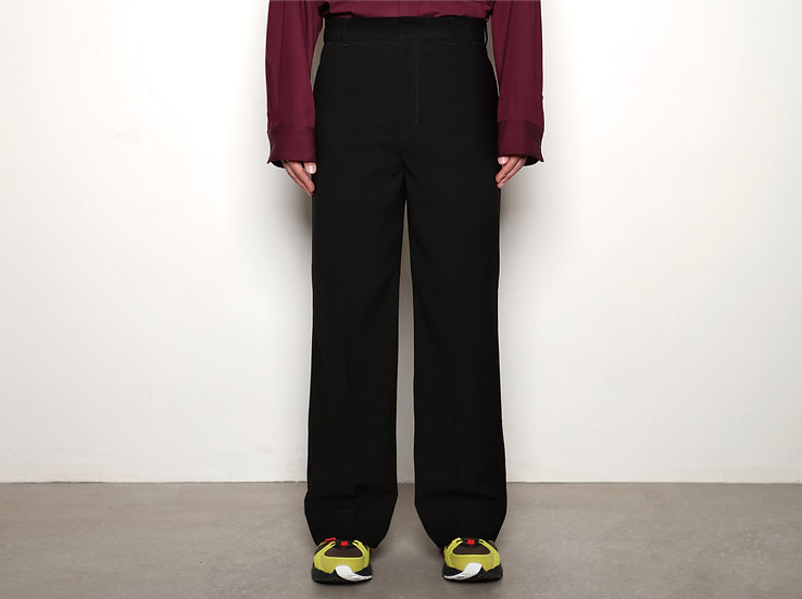 Black Flared Slacks