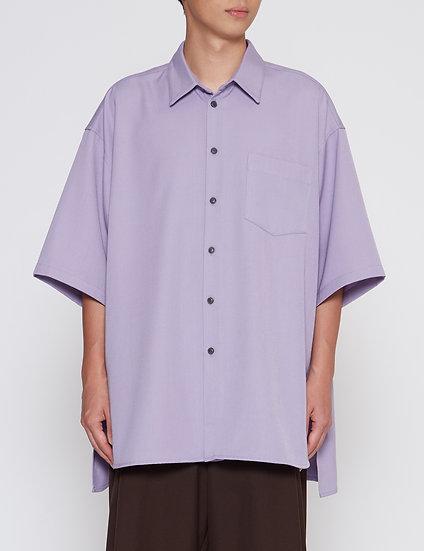 Purple Oversized Back Yoke Shirt