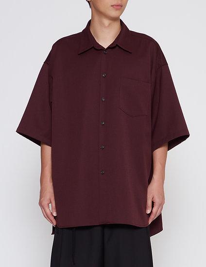 Burgundy Oversized Back Yoke Shirt