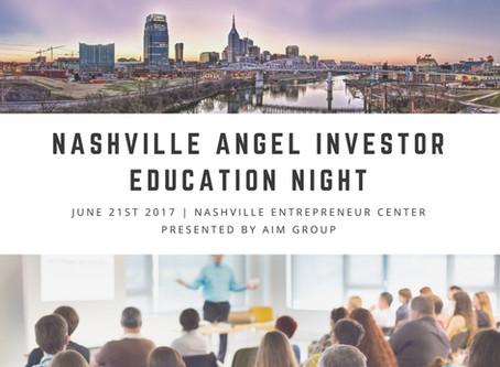 Nashville Angel Investor Education Night