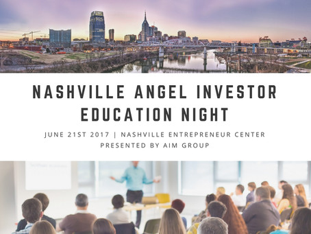 Nashville Angel Investor Education Night