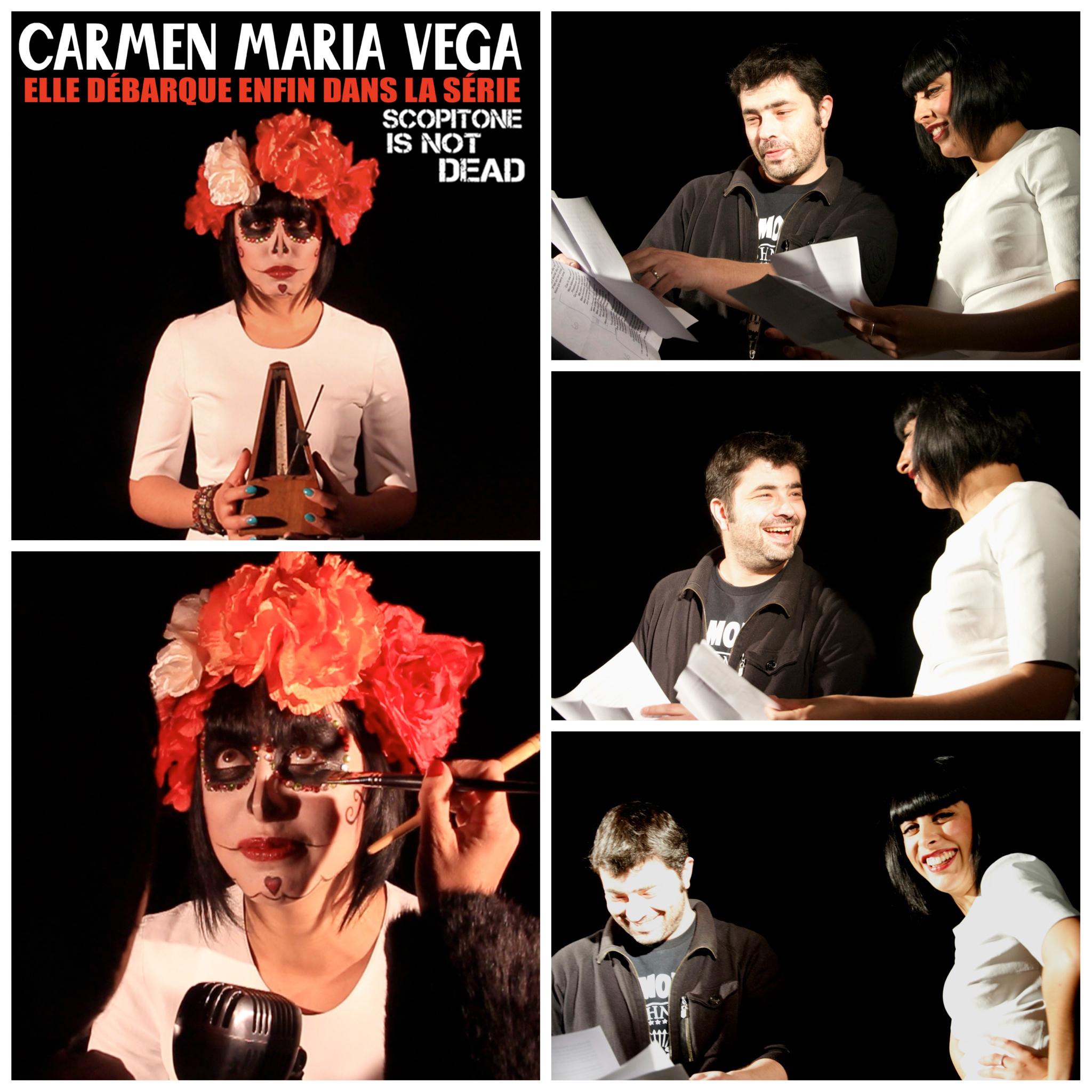 Tournage scopitone avec CARMEN MARIA VEG