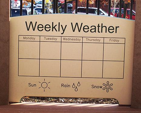 Weekly Weather Panel