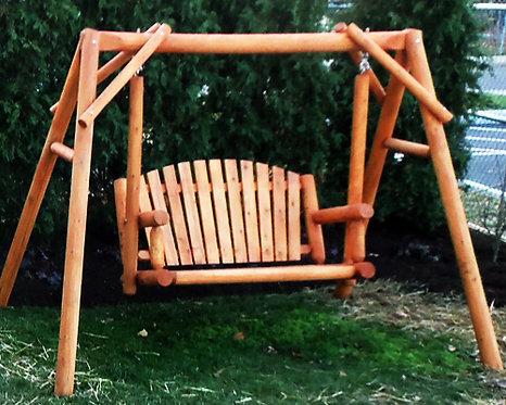 Log Bench Swing