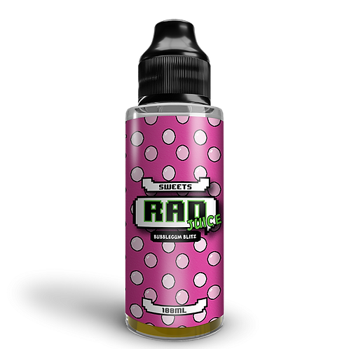 Rad Juice 100ml - Bubblegum Blitz