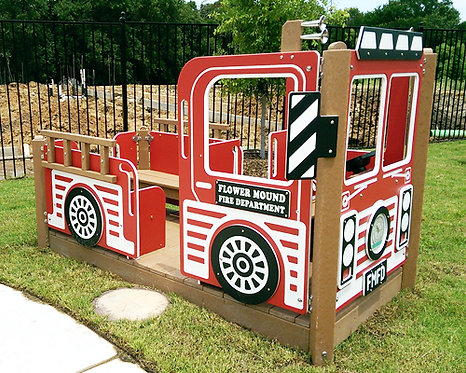Fire Truck w/ Custom Sign