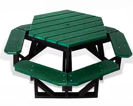 Recycled Hexagon Picnic Table