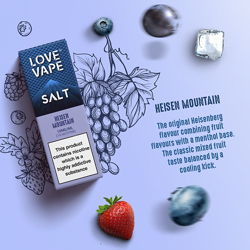 Love Vape Nic Salt 10ml - Heisen Mountain