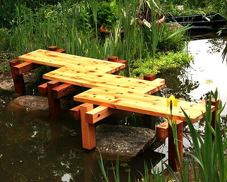 Van Gogh's Red Cedar Zig-Zag Bridge