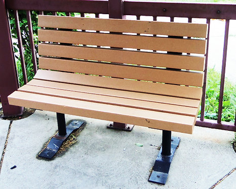 Composite Wood Bench w/Metal Frame #5