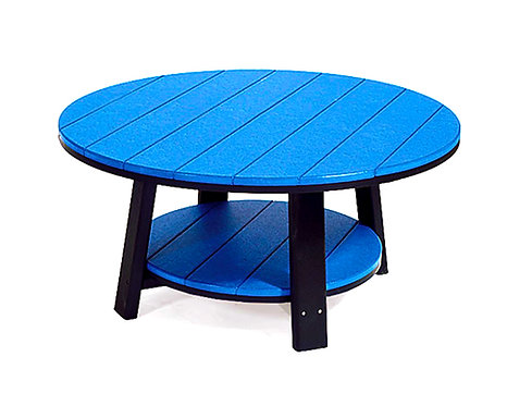 """38"""" Poly Composite Lumber Round Conversation Table"""