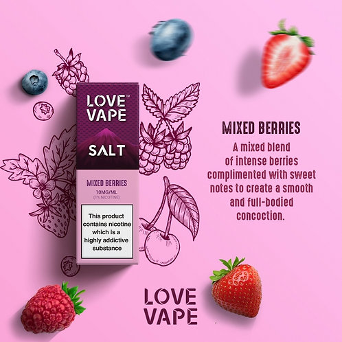 Love Vape Nic Salt 10ml - Mixed Berries