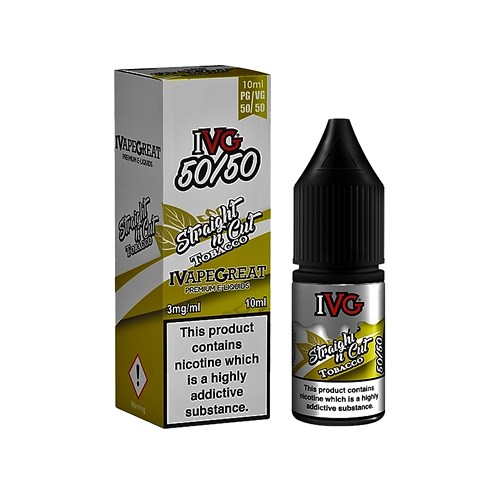 IVG 50:50 Range 10ml - Straight N Cut Tobacco