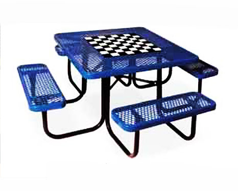 Metal Square Table w/ Game Top