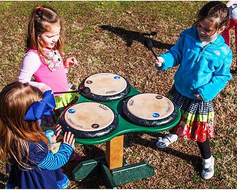 Triple Drum Table