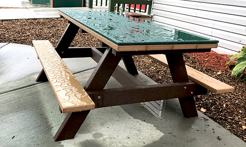 6' Picnic Table w/ HDPE Top (Preschool/Adult various hts)