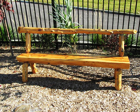 6' Cedar Bench w/ Back