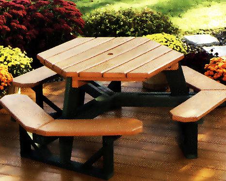 Cedar Hexagon Table