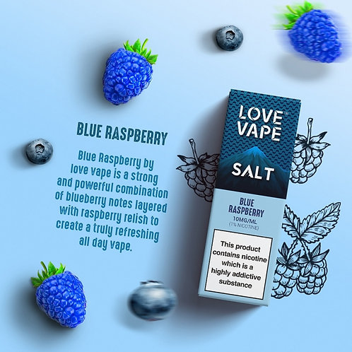 Love Vape Nic Salt 10ml - Blue Raspberry