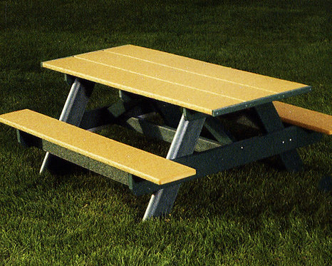 6' Picnic Table w/ Plank Top (Preschool/Adult various hts)