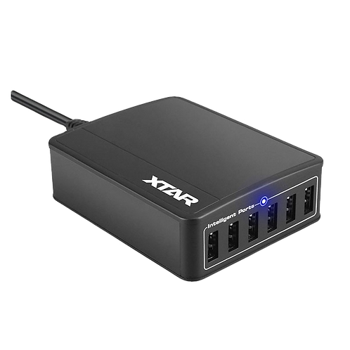 XTAR SIX-U U1 6 Port USB Hub (inc plug)